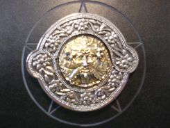Gold Coloured Green Man Buckle