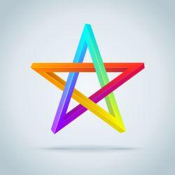 raindow pentagram
