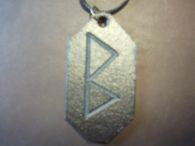 BEORC Rune Leather Pendant<