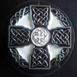 Black and White Celtic Cross Buckle
