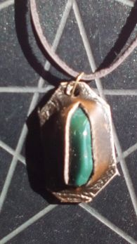 Bloodstone and Leather Pendant