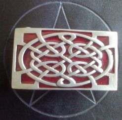 Celtic Red Rectangle Buckle