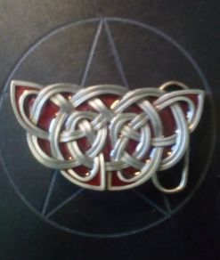 Celtic Red Knot Buckle