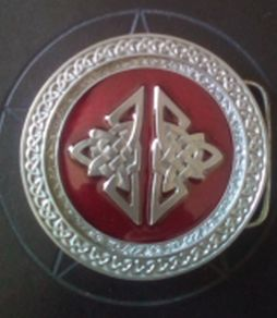 Celtic Red Round Buckle