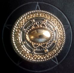 Gold and Silver Plated Celtic Round Buckle