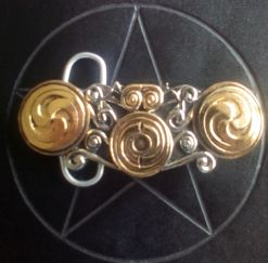 Gold and Silver Plated Celtic Swirls Buckle