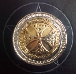 Gold and Silver Plated Celtic Wide Cross Buckle