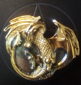 Gold and Silver Coloured Dragon Buckle
