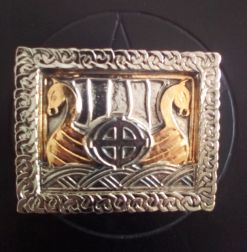 Celtic Ship Gold - Silver Plated Buckle