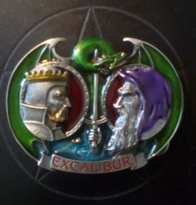 Merlin, Arthur and Excalibur Buckle
