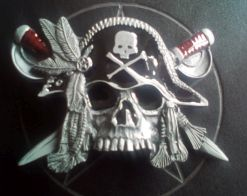 Pirate Skull Buckle