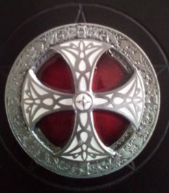Red and White Norse Cross Buckle