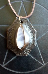 Rose Quartz and Leather Pendant