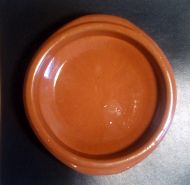 Terrecotta incense censer dish