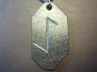 YR Rune Leather Pendant<